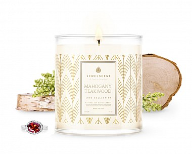 LUXE Mahogany Teakwood Jewelry Candle